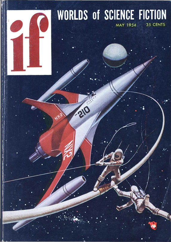 Cover for IF Magazine 1954